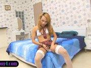 Teen ladyboy schoolgirl huge cock in ass