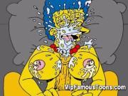 Simpsons orgy hentai parody