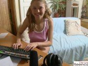Tiny flexible and hot pussy for a webcam live show