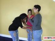 Three Chubbys Play a Strip Game of Rock Paper Scissors