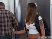 Juicy teen handjob Sneaking Around With
