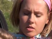 Two beautiful lesbians Young girl/girl