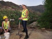 Girlsway Mia Malkova and Angela White help Lesbian Cum