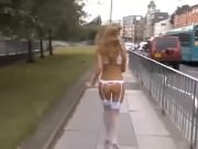Girlfriend amateur exhibitionist in public