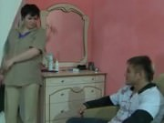 Fat Russian milf gets her cunt drilled deep and hard