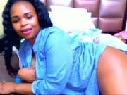 ebony hot wife shows off huge ass while husband is away