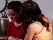 LesbianOlderYounger Magdalene Explores Sensuality