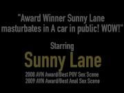 Award Winner Sunny Lane masturbates in A car in public! WOW!