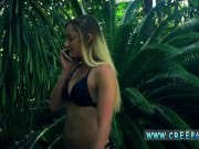 Brunette strapon blond teen first time