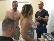 Sexy gay black cop man Prostitution Sting
