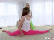flexi lesbian teen stretching