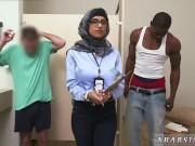 Teen handcuffed blowjob xxx Black vs White,